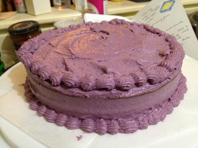 Ube cake at last!