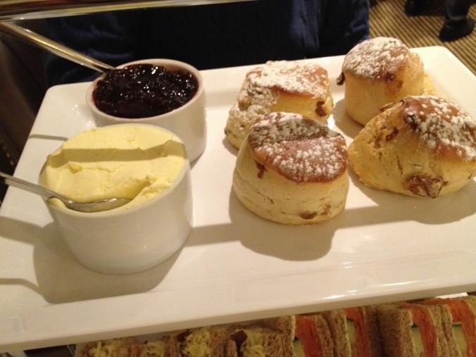 Scones Jam Cream - Afternoon Tea at The Cavendish