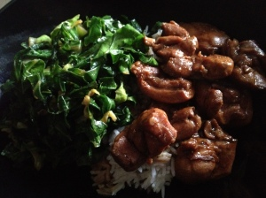 Adobo and greens