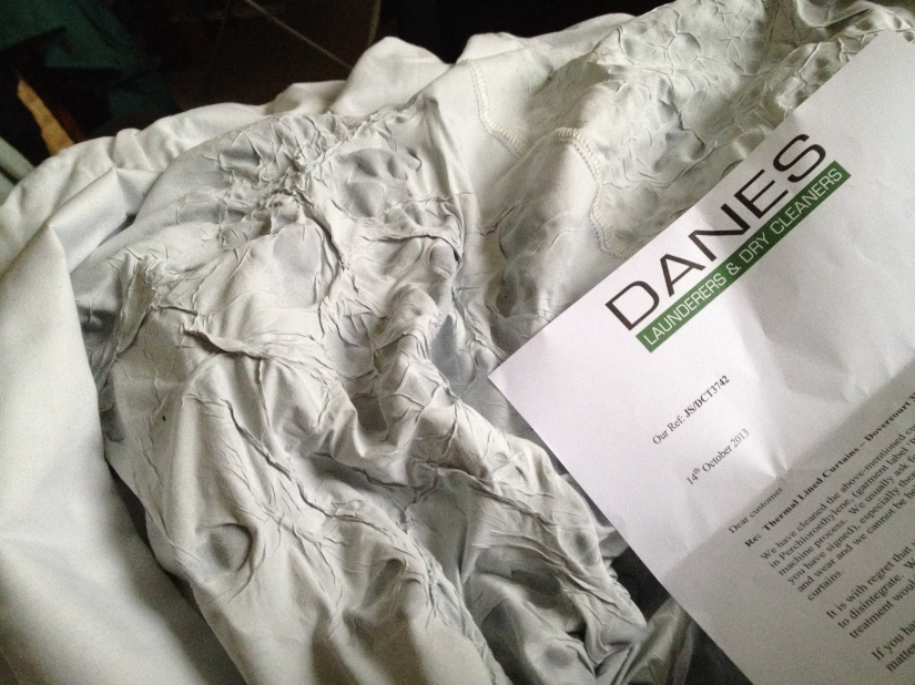 Curtains ruined by Danes