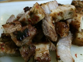 Salt and chilli pork belly