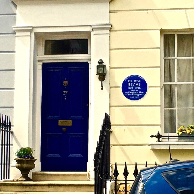 Jose Rizal blue plaque