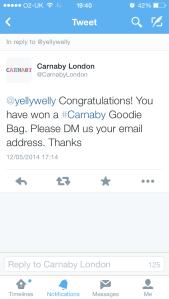 Carnaby tweet