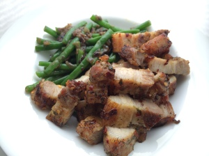 Green beans and chilli pork