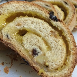 Stollen with marzipan swirl