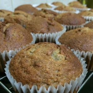 Banana oat spice muffins
