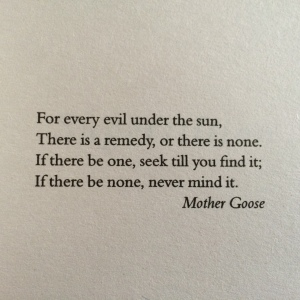 Mother Goose quotable
