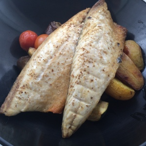 Mackerel and roasted veg