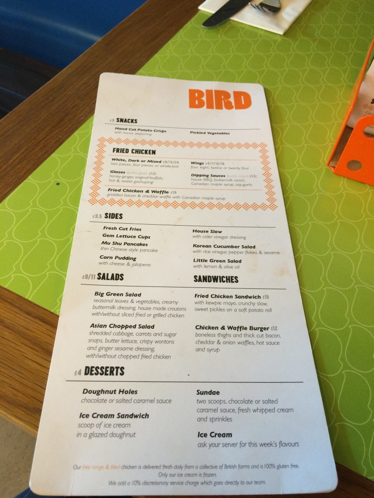 Bird menu