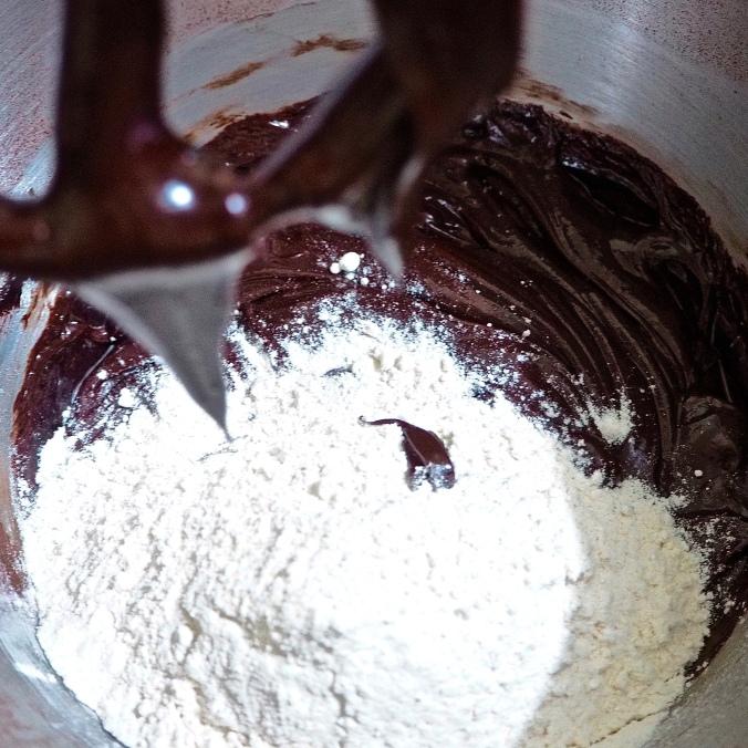 Chocolate and flour mix