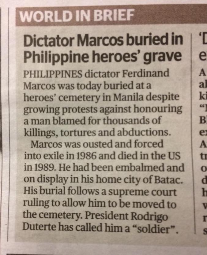 Marcos in heroes grave - London ES