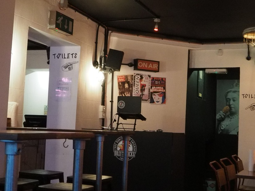 The DJ and his booth